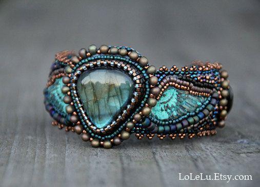 Peyote Bracelet, Beaded Bracelets, Beaded Embroidery, Beadwork, Beading,  Cuffs, O Beads, Arm Warmers, Pearl Bracelets