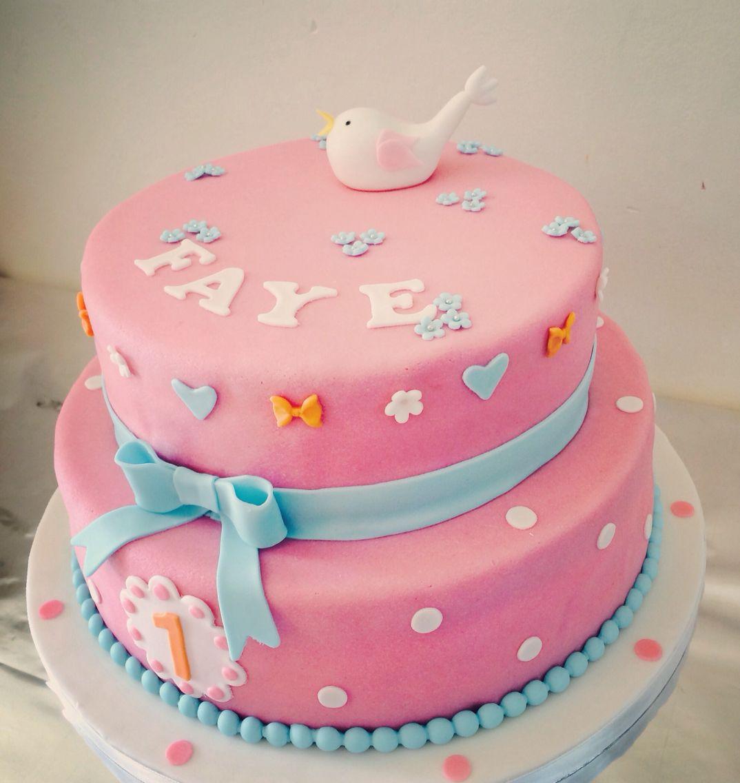 Welp Taart meisje 1 jaar   Taart, Kinder verjaardagstaarten YM-31