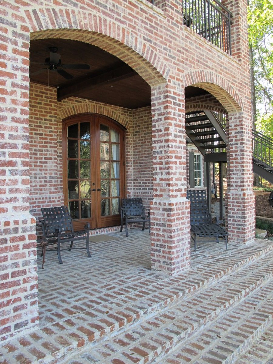 White Wash Brick Fireplace Farmhouse