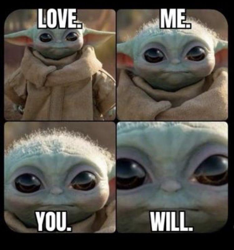 Baby Yoda You Will Love Me Yoda Funny Yoda Meme Yoda Drawing