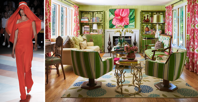2 fashion designers' homes pair with their NYFW collections - Christian Siriano living room 1