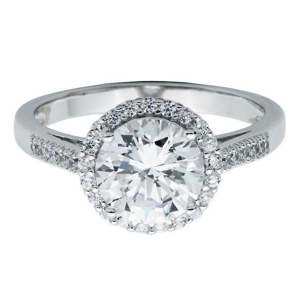 Diamonvita 2 1 3 Ct Tw Simulated Diamond Ring In Sterling Silver 2276013 Helzberg Diamonds Helzberg Diamonds Simulated Diamond Rings Engagement Rings