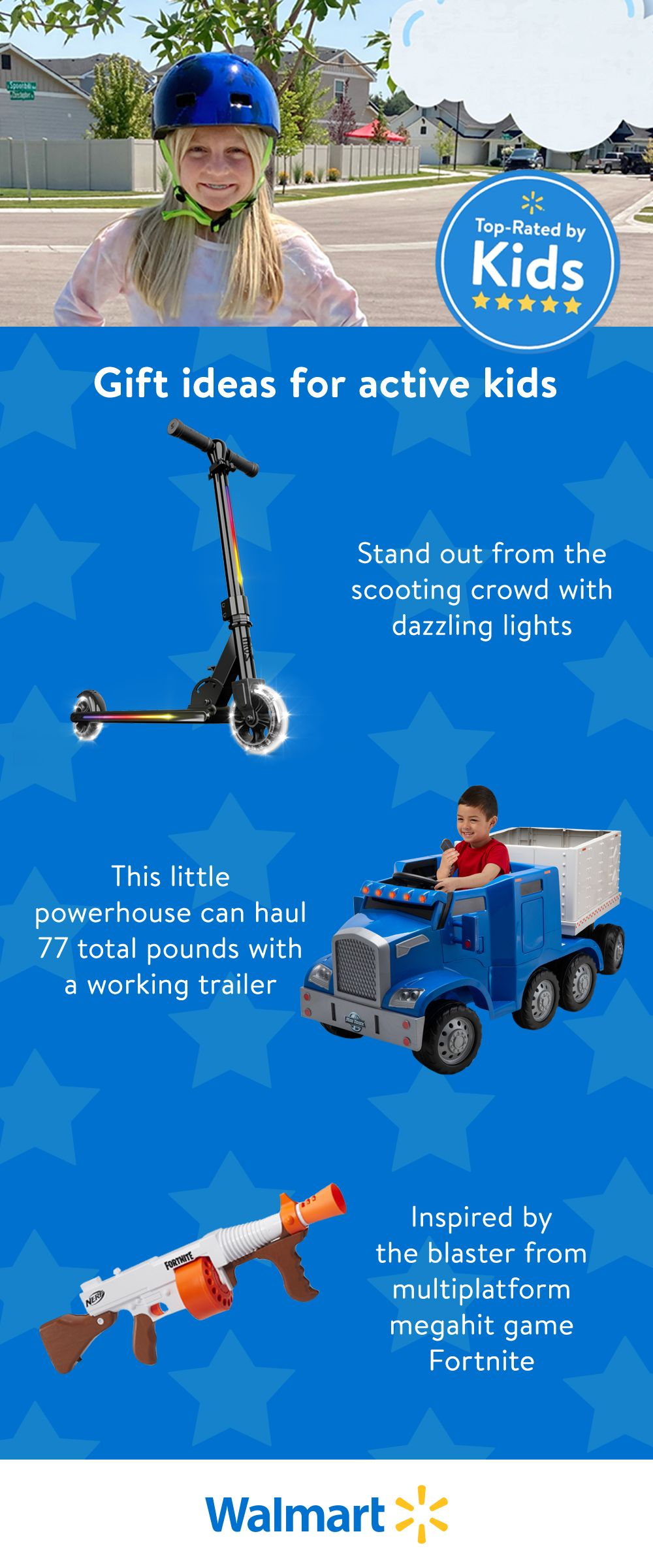 Check out the best toys of 2020 at Walmart. These products have been Top Rated by Kids and will encourage your child to enjoy outdoor play.