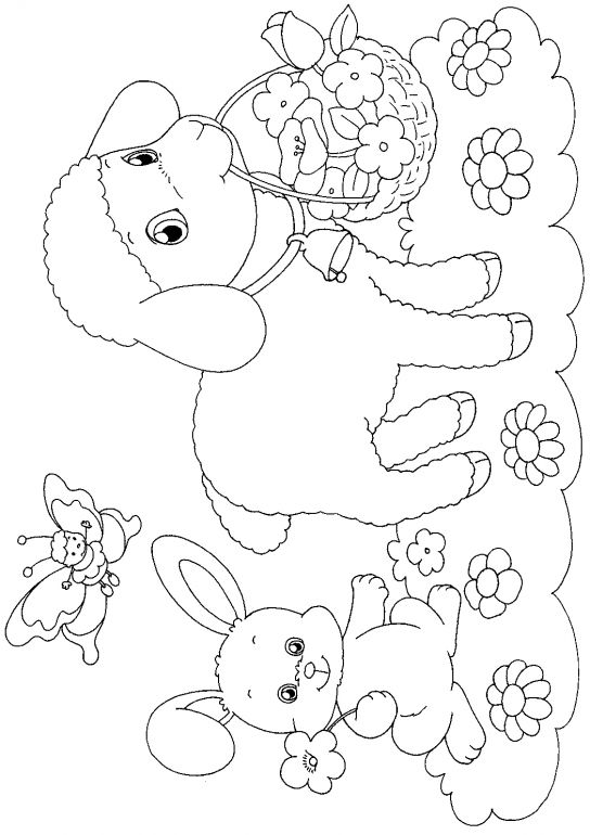 Easter Lambs Coloring Pages Spring coloring pages