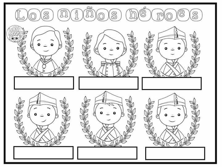Pin De Iliana Perez En Mexico Independencia Ninos Heroes Para Colorear Septiembre Preescolar Manualidades 15 De Septiembre Para Ninos