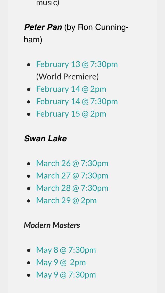 Sacramento Ballet 2015 spring