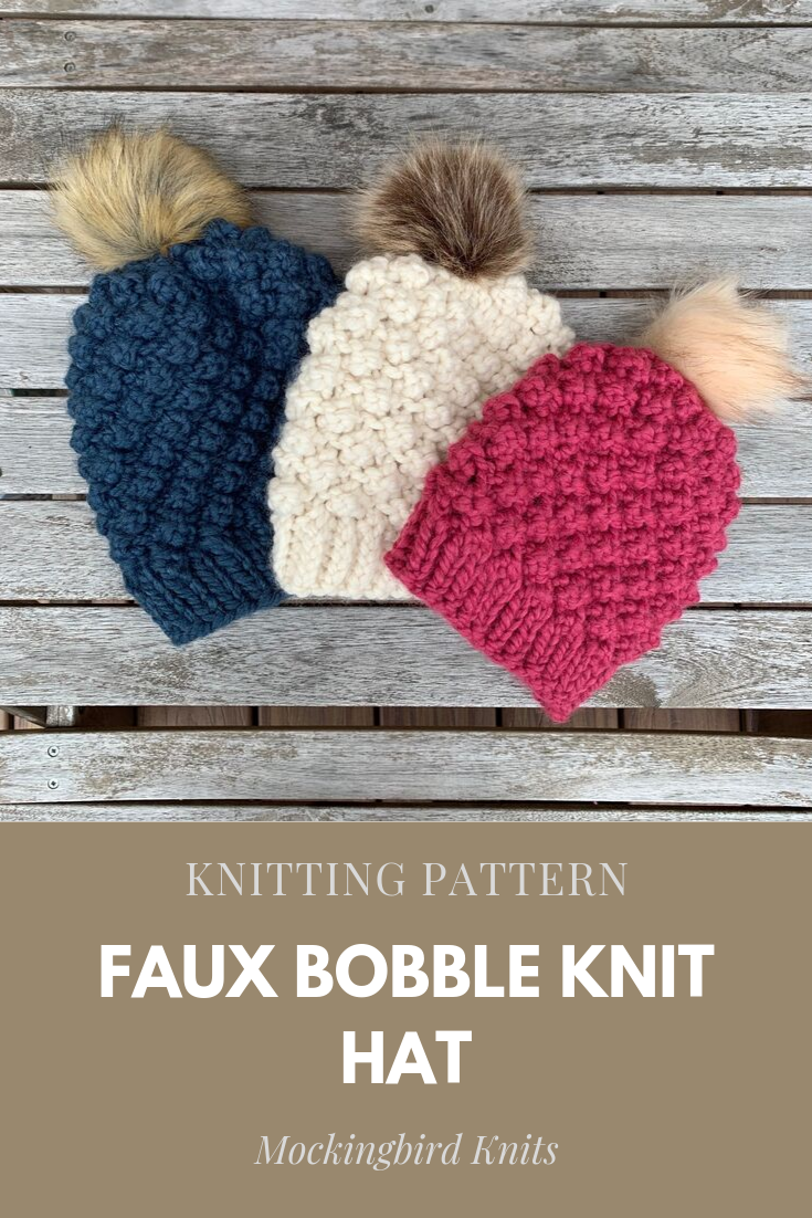 The Faux Bobble Hat | Bobble hats, Knitting patterns ...