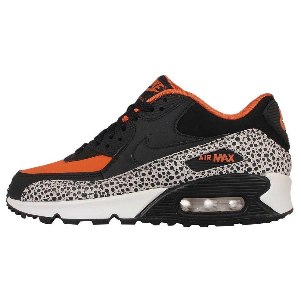 Nike Air Max 90 Safari GS Black Orange Kids Womens Running