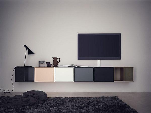 The Modular Tv Hi Fi Wall Mounted Cabinet Tv Mobel Tv Mobel