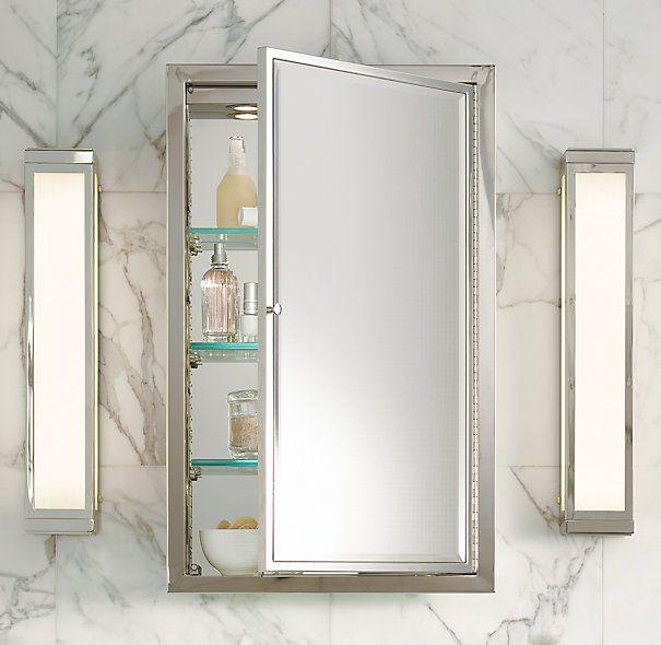 Framed Lit Left Opening Inset Medicine Cabinet Recessed Medicine Cabinet Trendy Bathroom Bathroom Medicine Cabinet