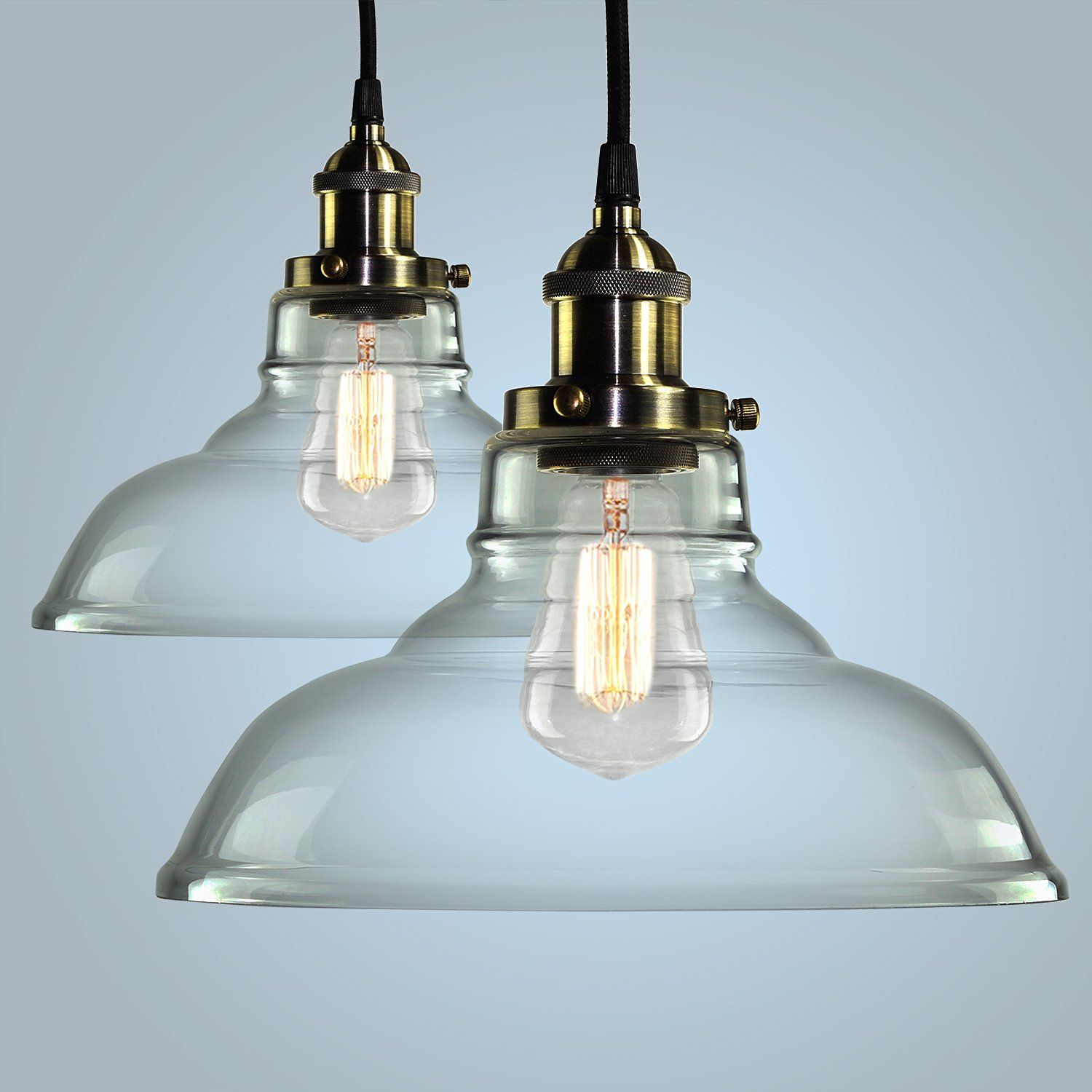 Pendant Light Hanging Glass Ceiling Mounted Chandelier