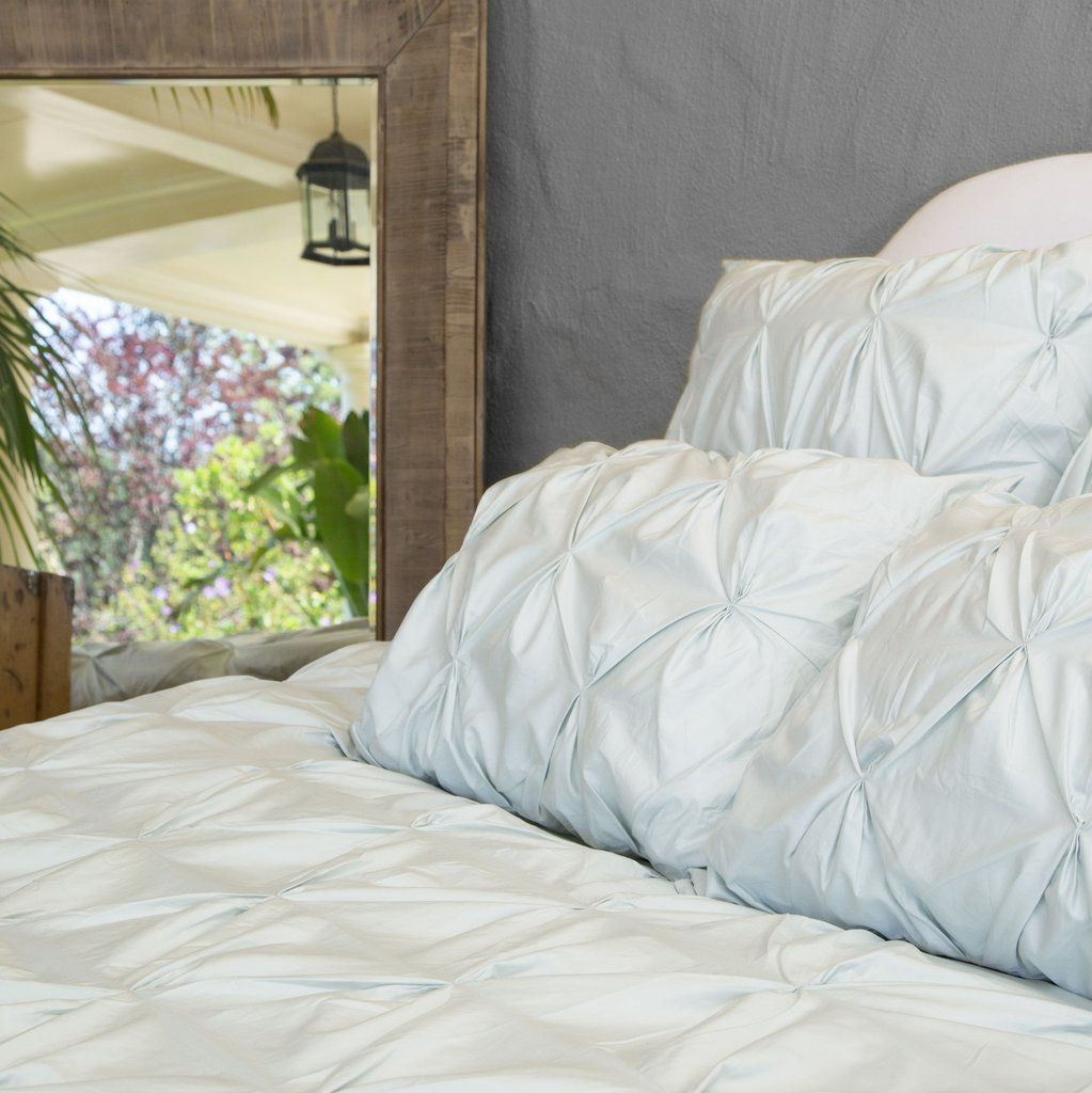 Bedroom Inspiration And Bedding Decor | The Valencia Mint Green Pintuck  Duvet Cover | Crane And