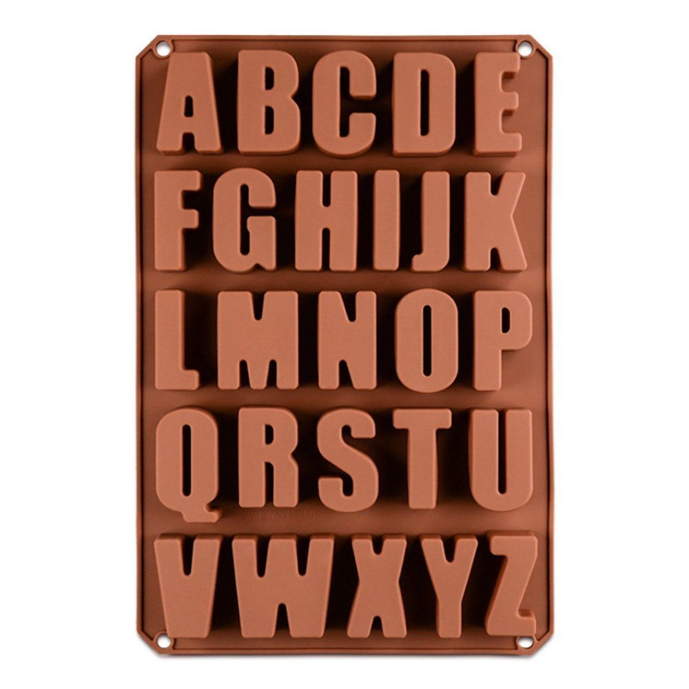 Baumarkt Auf Englisch 26 englische buchstaben schokoladenformen silikon seifenform