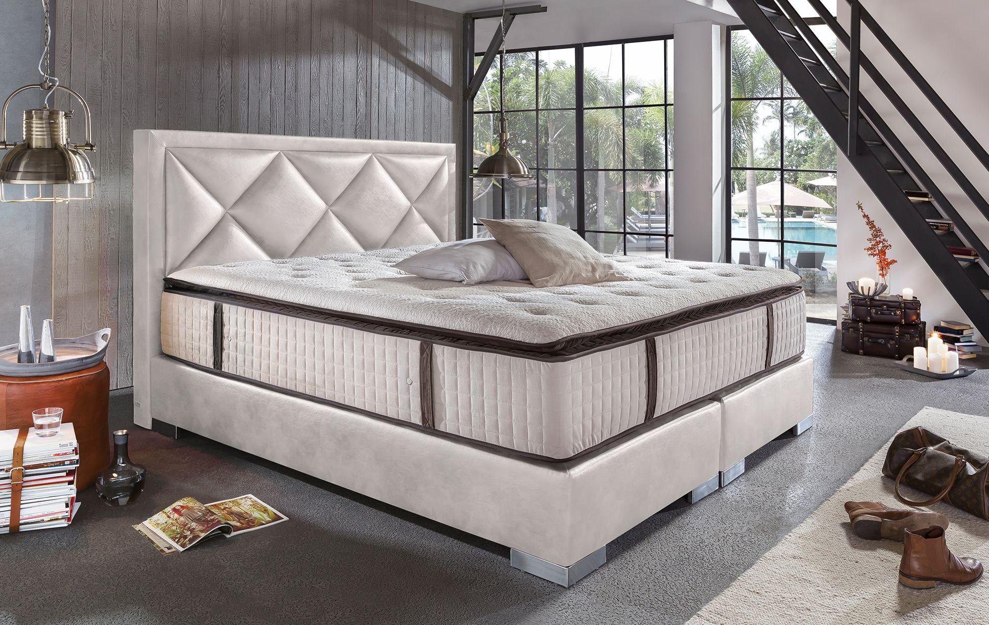 Boxspringbett Joker Deluxe Weiss Luxusschlafzimmer Bett