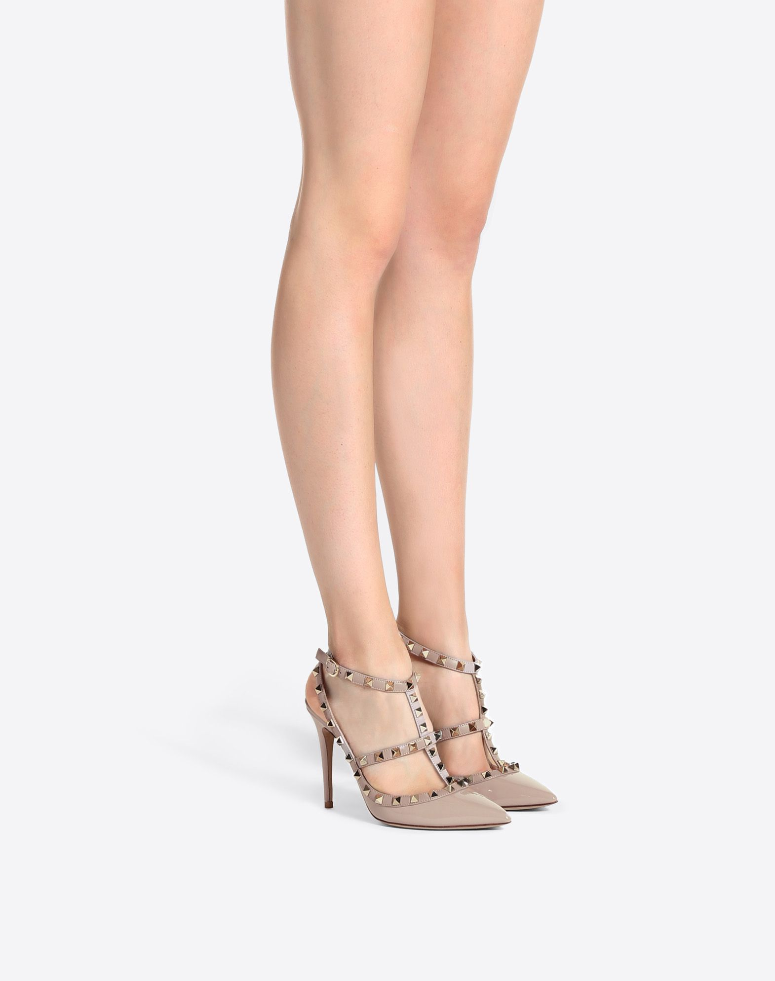 b7882205614f5 Patent Cage Rockstud Pump 100mm for Woman | Valentino Online Boutique
