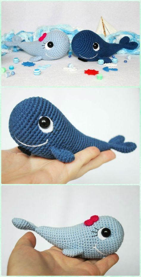 Crochet Amigurumi Blue Whale Free Pattern - Amigurumi Crochet Sea ...