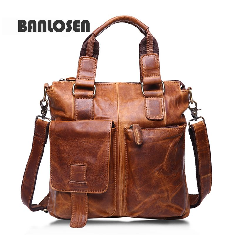efb2b9d516 Leather · Genuine Leather Bags Fashion Men Handbags Crazy Horse Leather  Crossbody Bag Men s ...