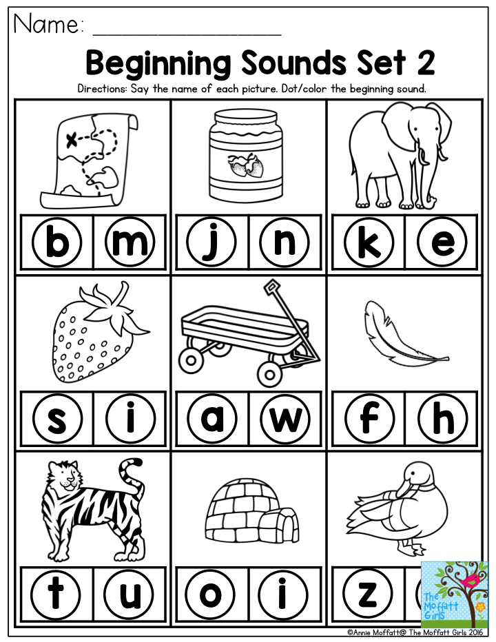 Beginning Sounds Say The Name Of Each Picture And Dot The Beginning Sound Reading Begins Preschool Reading Beginning Sounds Worksheets Preschool Worksheets