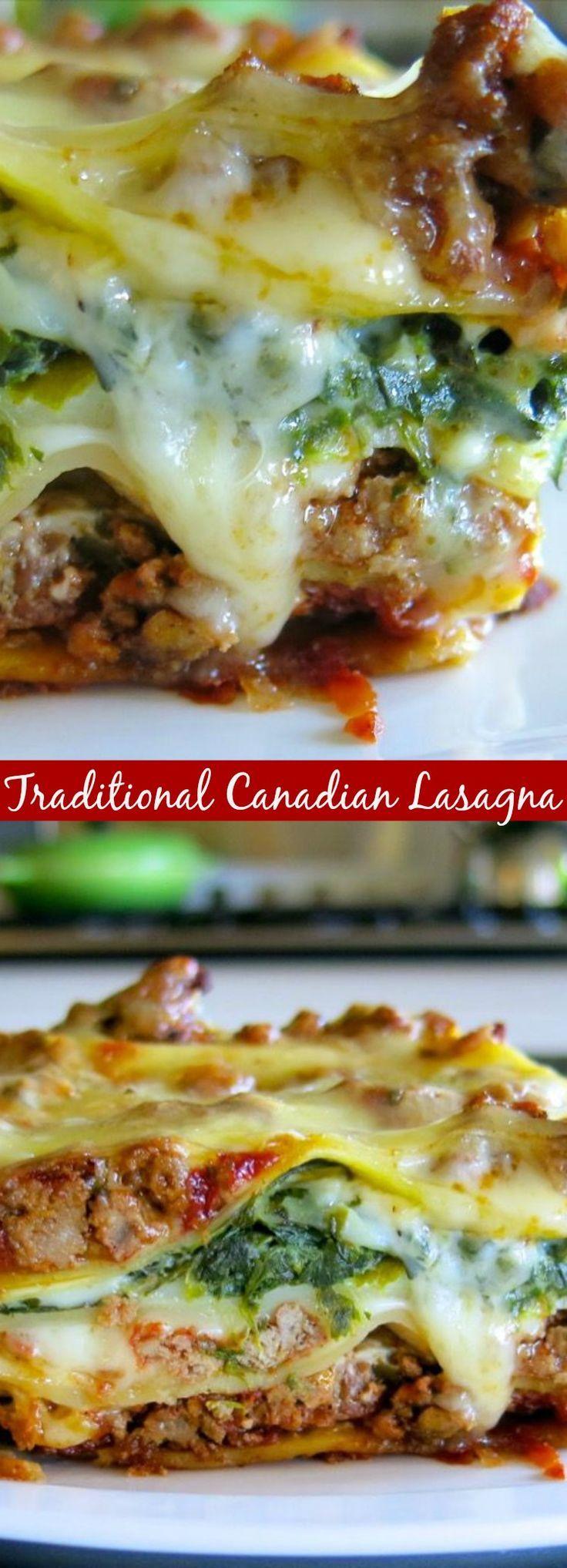 Traditional Canadian Lasagna
