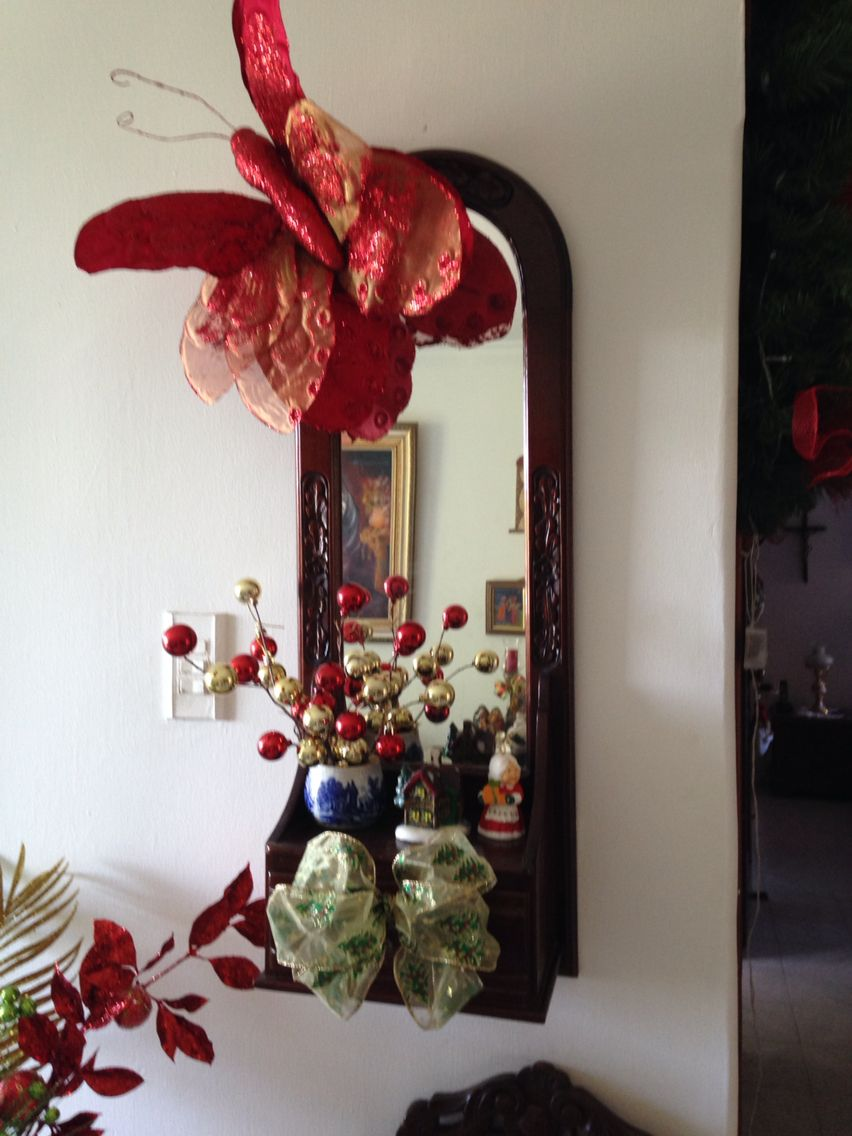 Espejo decorado Navidad