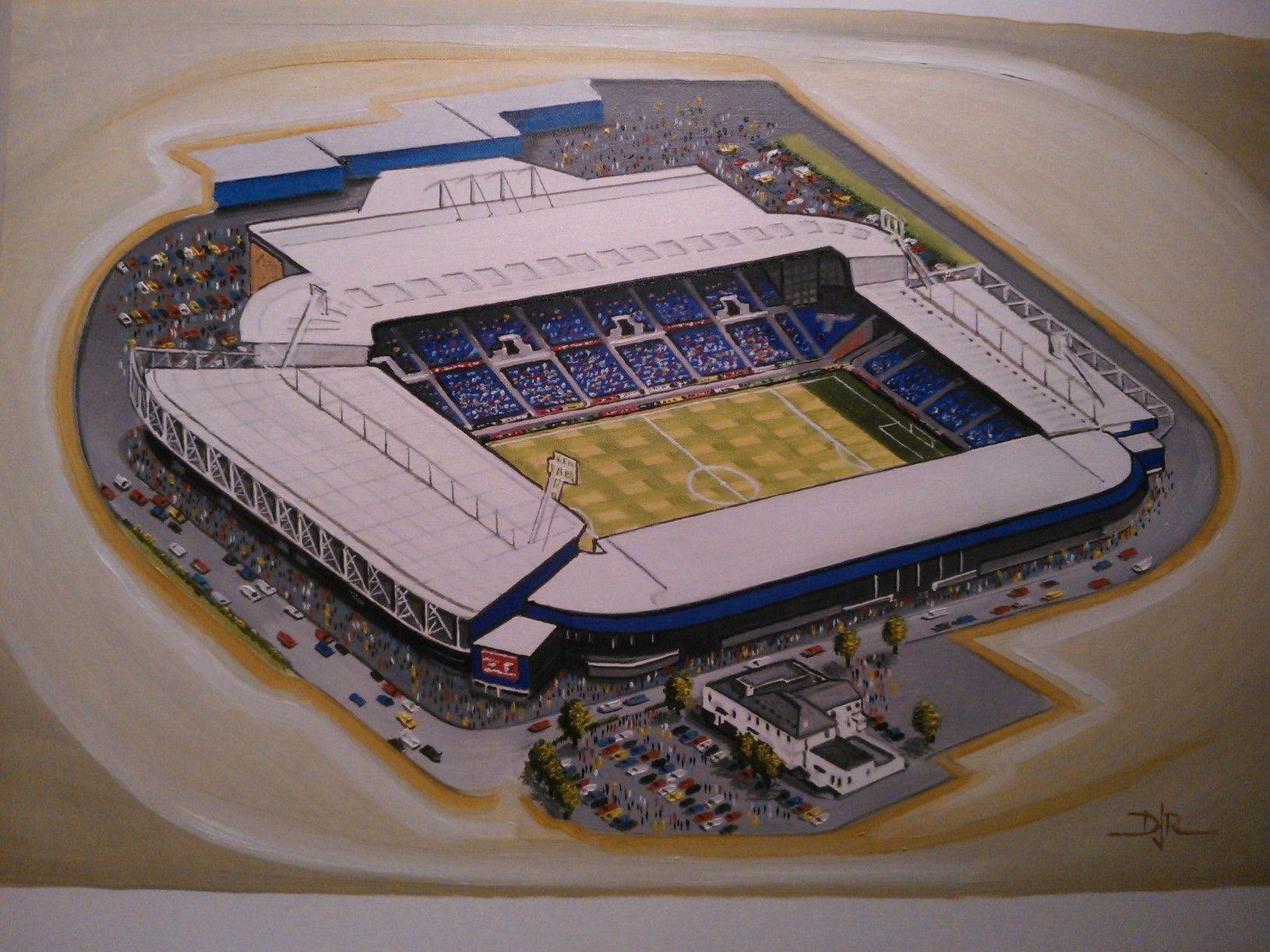 The Hawthorns in Art, home of West Bromwich Albion F.C. Great gifts @ sportsstadiaart.co.uk....