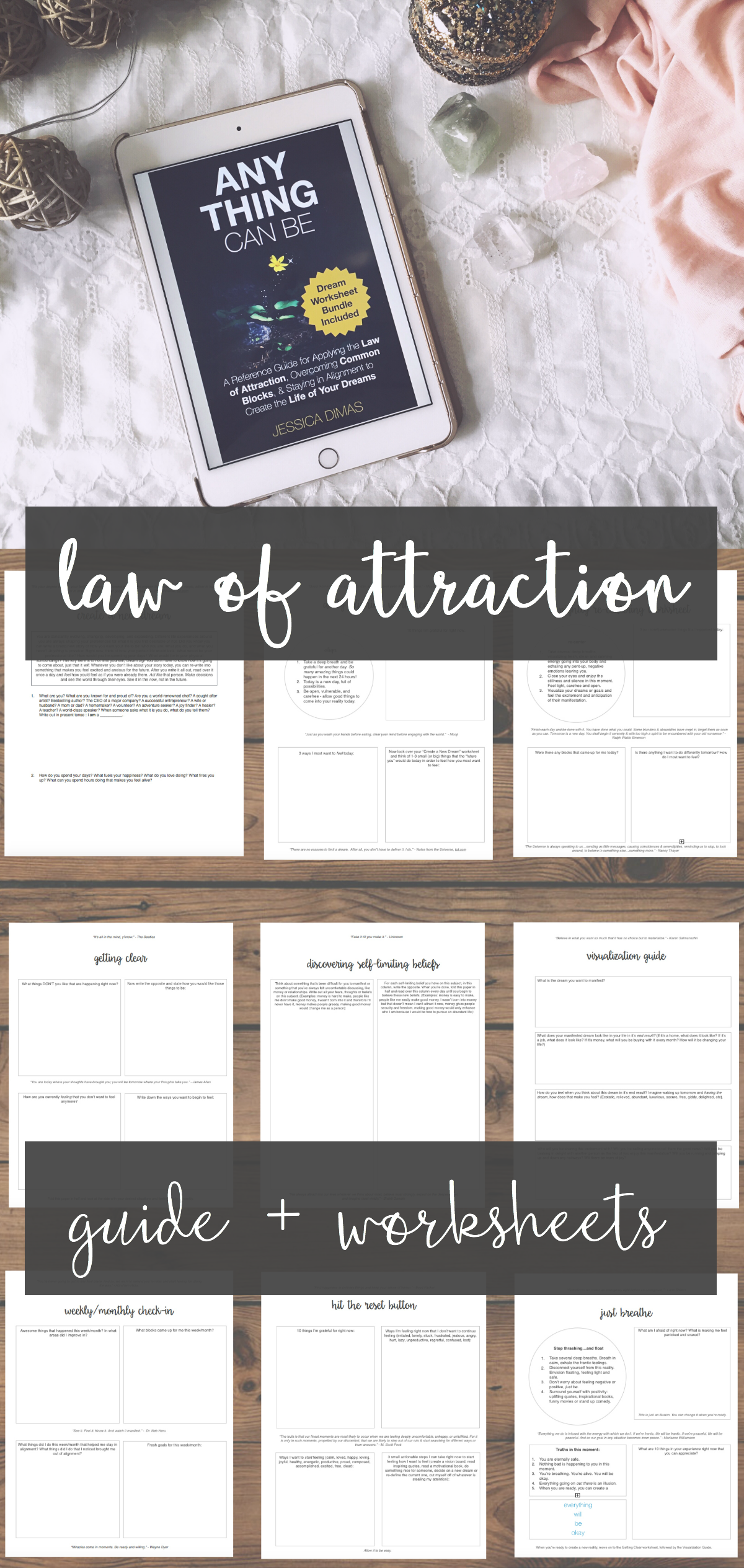 The Ultimate Law Of Attraction Guide Worksheet Bundle