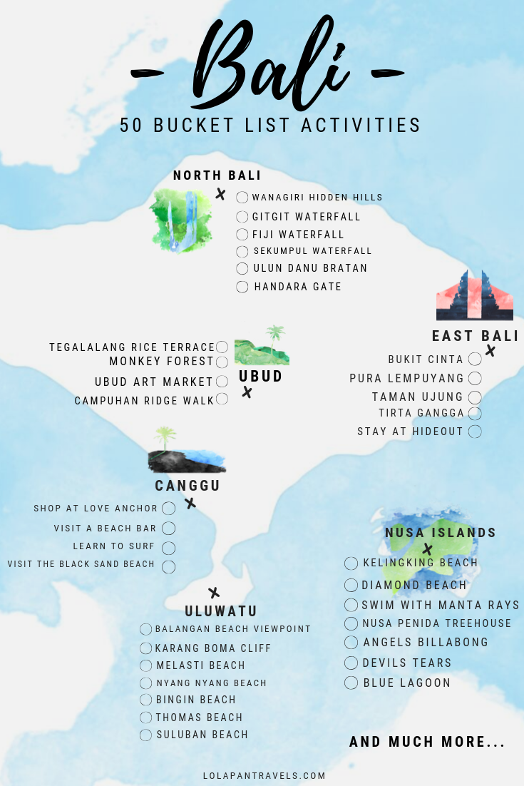Bali Bucket List Guide - Top 50 Things You Need To Tick Off