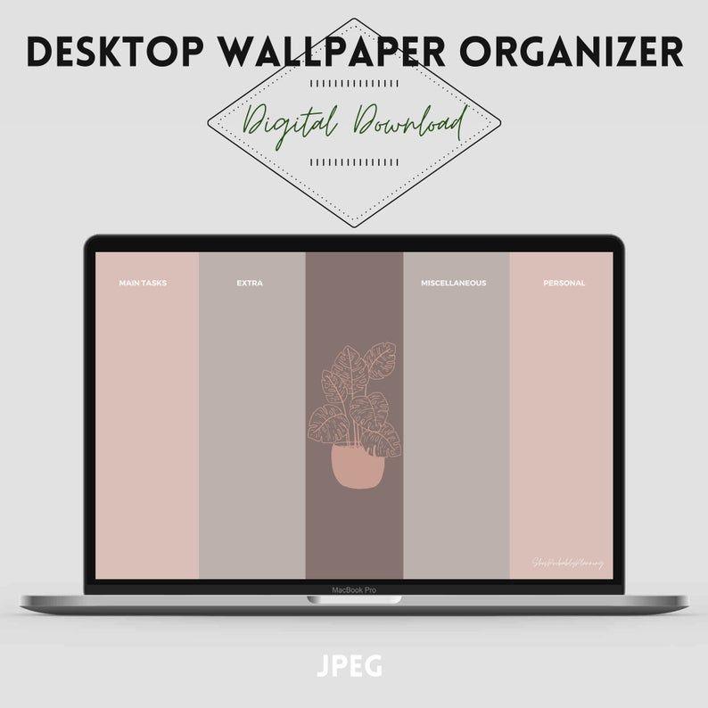 Green Pink Desktop Organizer Wallpaper Organizer Desktop Wallpaper Digital Download Organization Wallpaper 2 Wallpapers Desktop Wallpaper Organizer Wallpaper Organizer Desktop Organization Desktop wallpaper organizer with