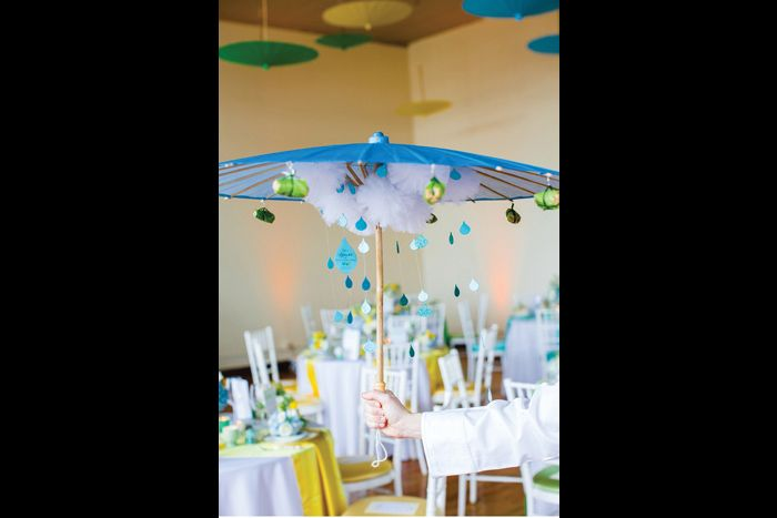 Chicago Baby Shower Appetizers Raining Down From Umbrella Rain Baby Showers Rain Baby Chicago Baby Shower