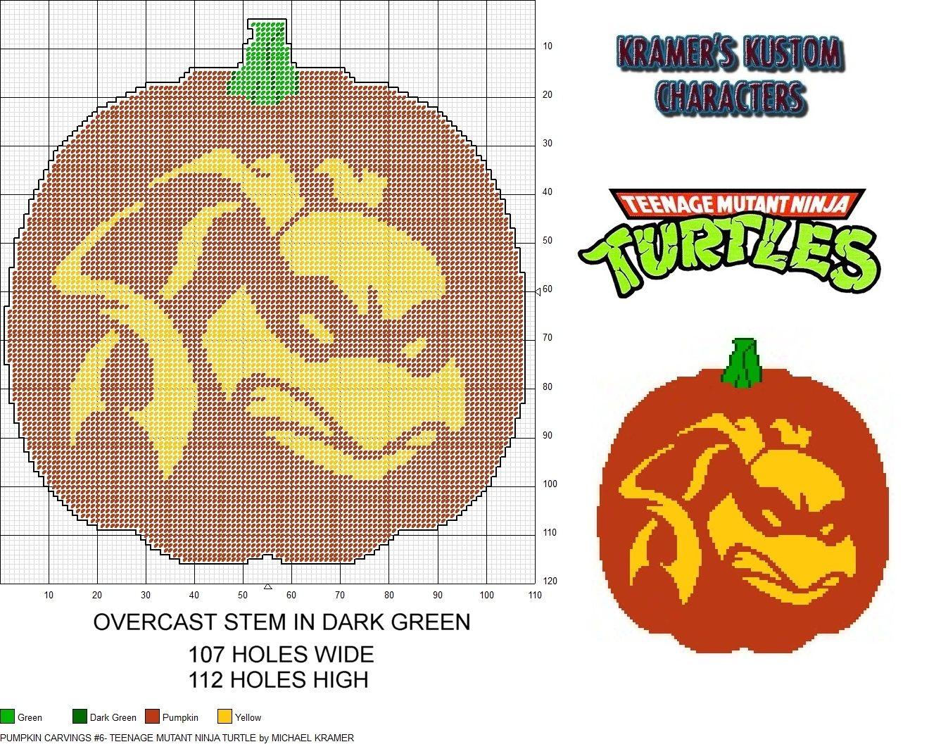 Pumpkin Carvings #6- Teenage Mutant Ninja Turtle plastic canvas ...
