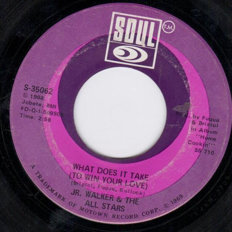 Jr. Walker - What Does It Take To Win Your Love SOUL 35062 Northern Soul Motown