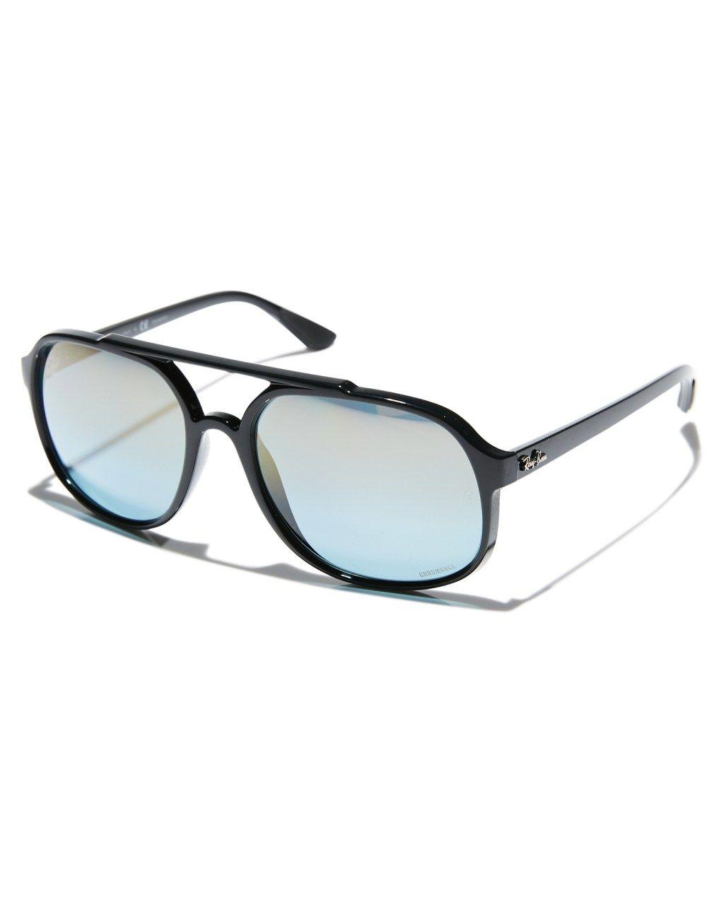 9f7c97e41b6 Ray-Ban Rb4312Ch Sunglasses Black Blue Mirror Mens sunglasses Size ...