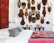 a wall of mask...I have a similar wall in my dining room.  I love this!