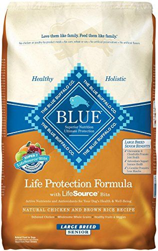 Blue Buffalo Dry Food For Large Breed Senior Dogs Chicken And Rice