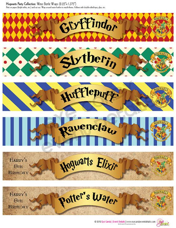Harry Potter Inspired Hogwarts PRINTABLE Party by ...