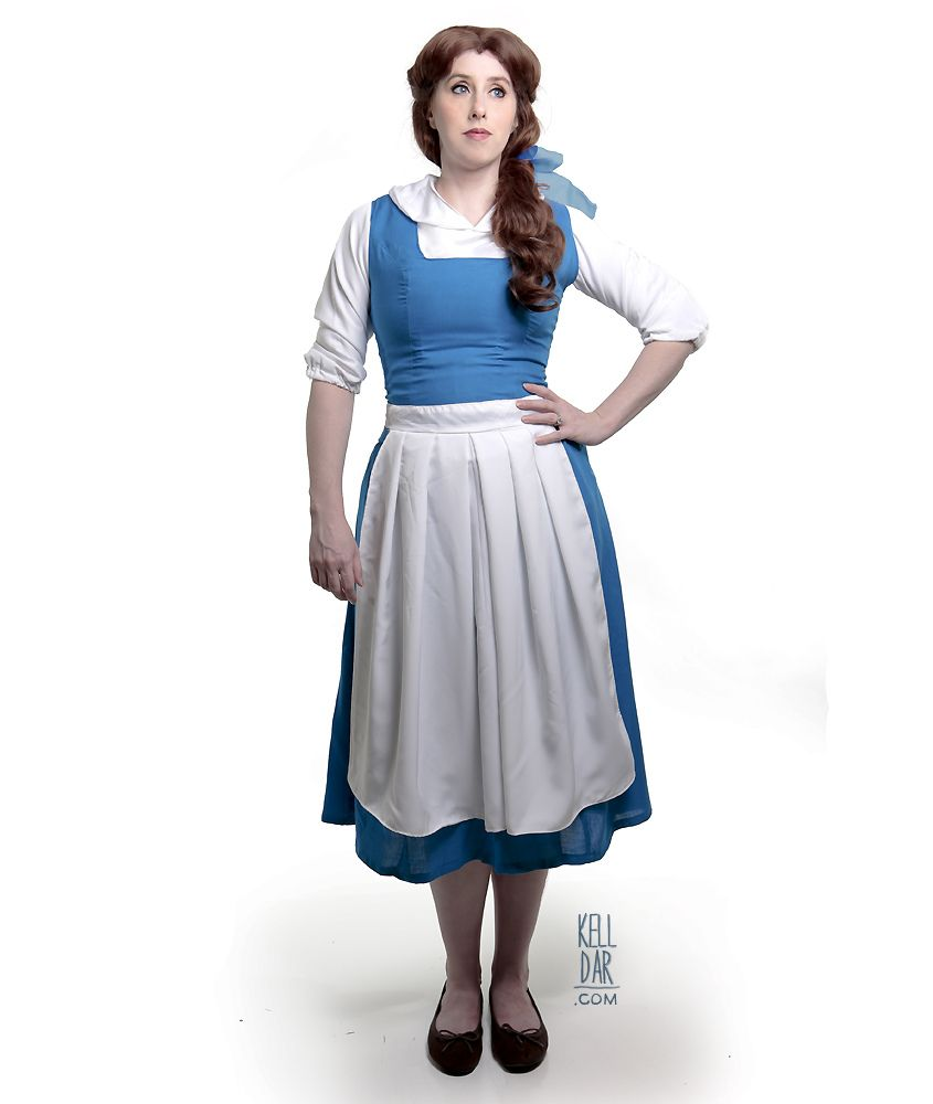 Belle blue peasant dress costume. Sewing tutorial. Maybe ...