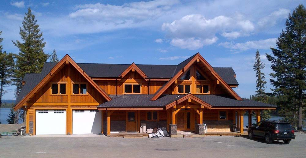 Timber frame homes exterior google search dream home for Timber frame exteriors
