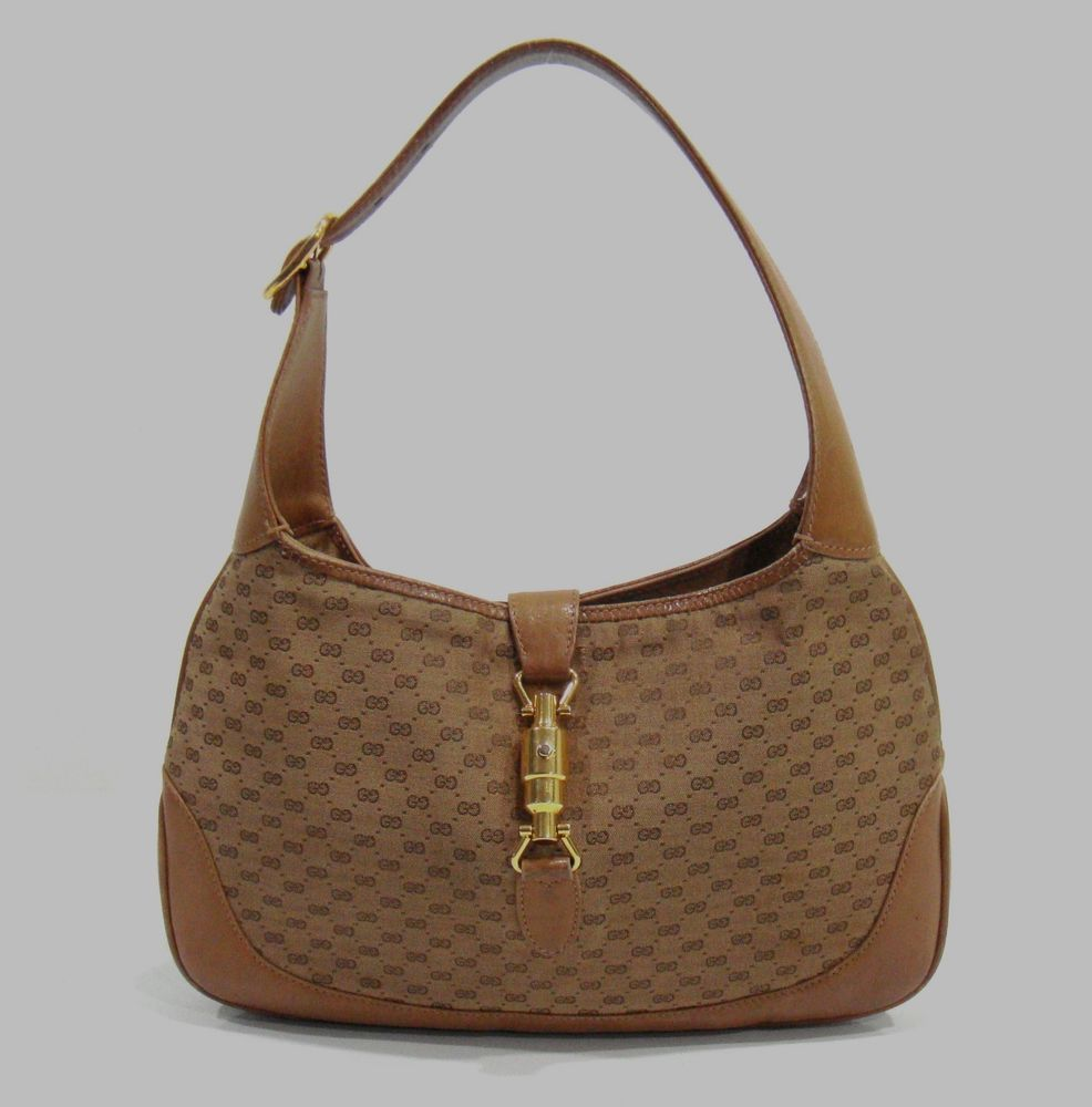 8fe43cec9959 PRADA Beige JACQUARD LOGO Fabric HANDBAG Doctor Bag w  OSTRICH Leather