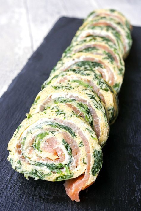 Low Carb Spinat-Lachs-Rolle #diyfoodideas