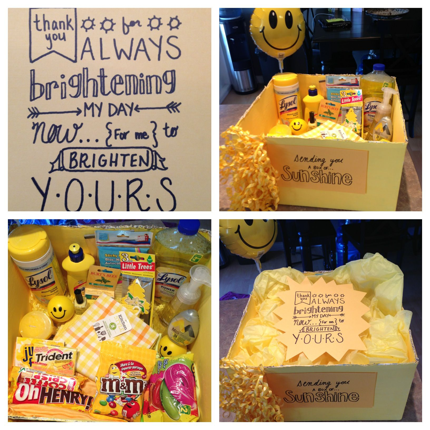 A little box of sunshine I made for a friend ) Box of
