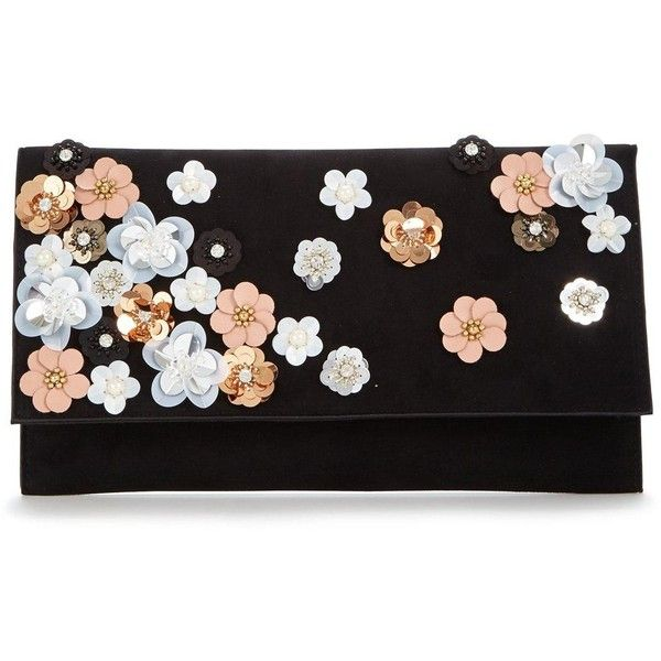 V By Very Flower Embellished Clutch 25 Liked On Polyvore