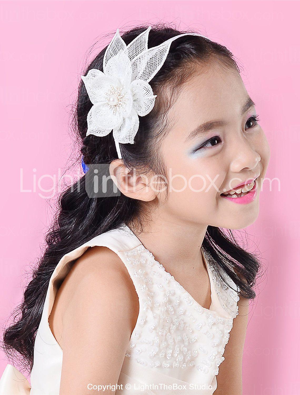 children sinamay rhinestone flower headband girls fascinator (more