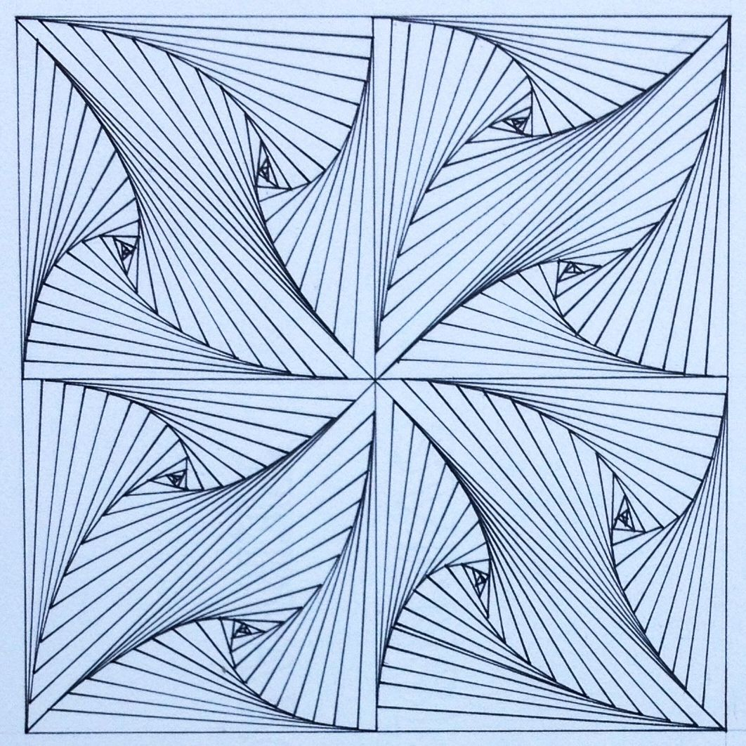 Square Geometry Symmetry Tiling Pattern Tessellation Escher