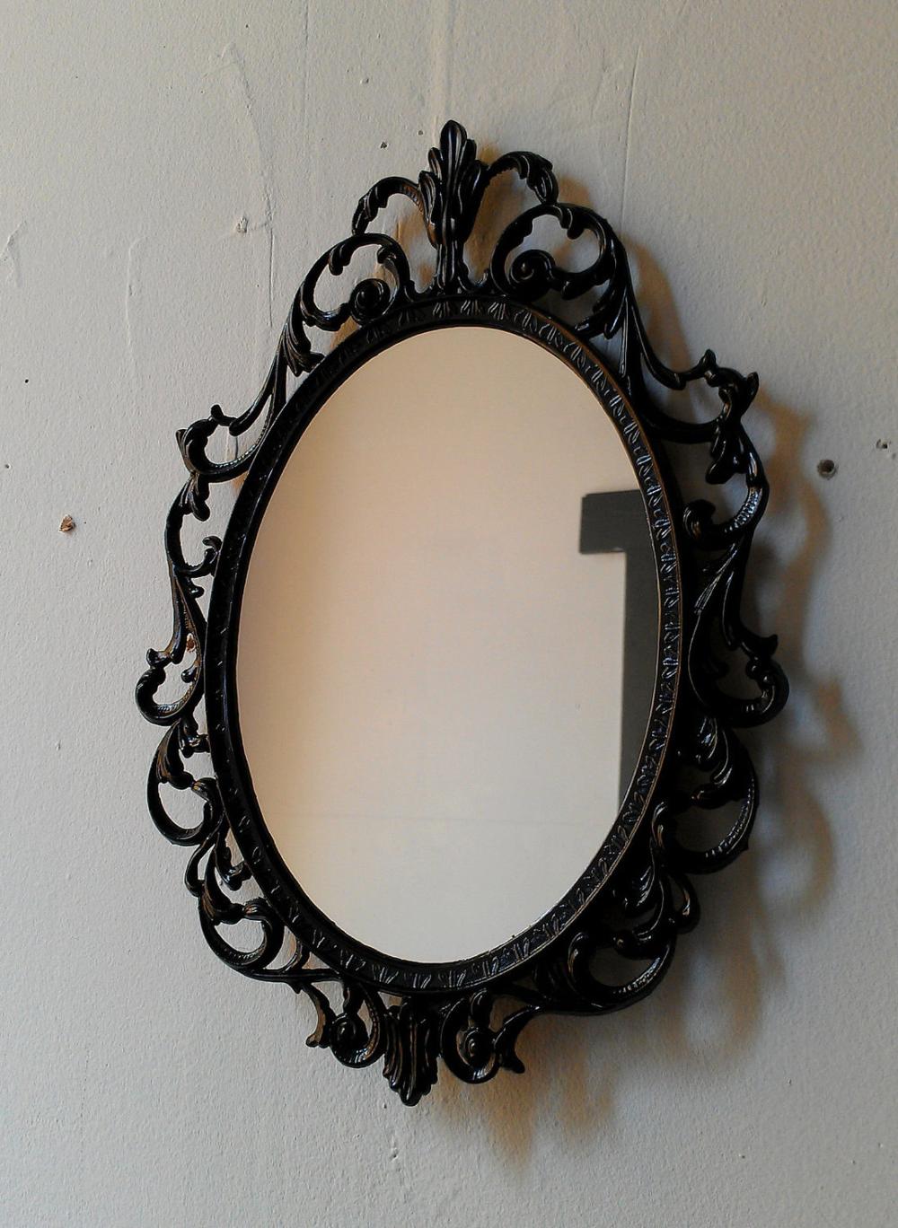 Dark Fairy Tale Mirror Ornate Vintage 10 By 7 Inch Frame In Etsy Vintage Brass Frame Mirror Ornate Mirror