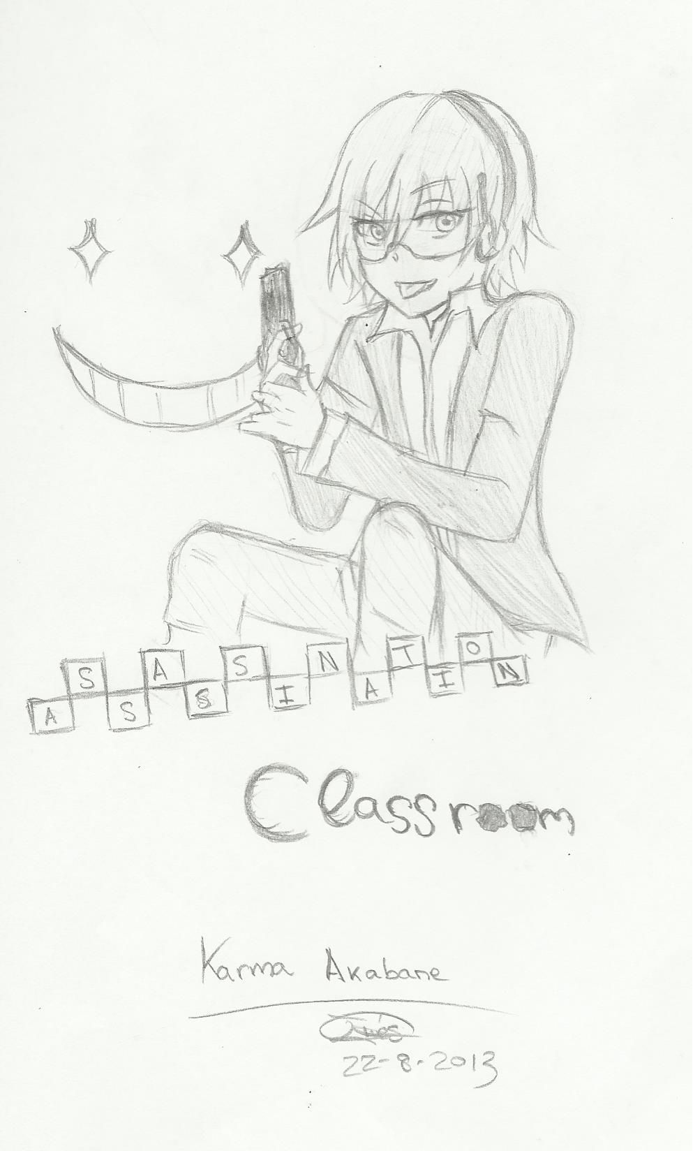 Karma Akabane - Assassination Classroom by AngieInes.deviantart.com on @DeviantArt