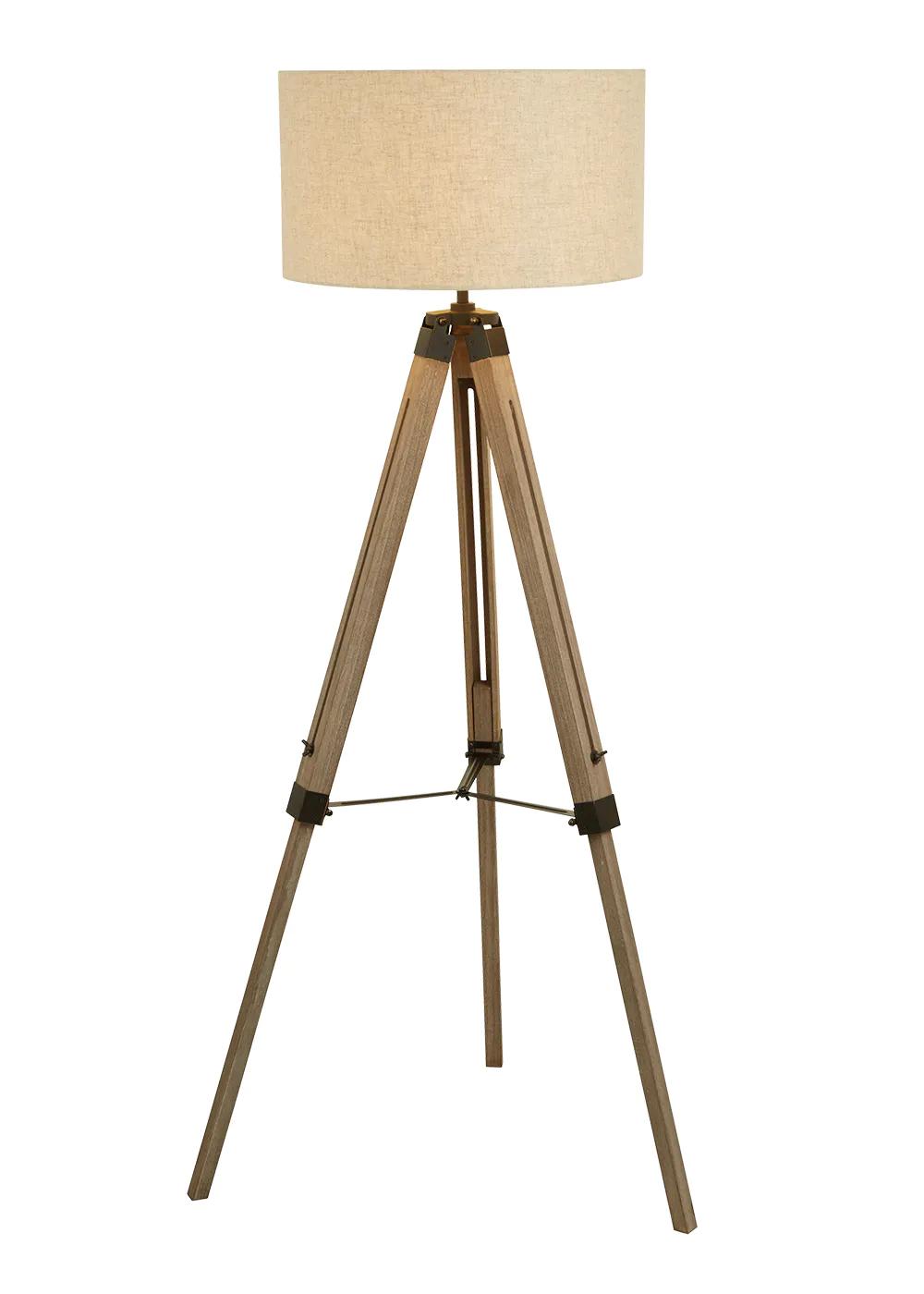 Bronte Wooden Floor Lamp H143cm X W68cm Wood Wooden Floor