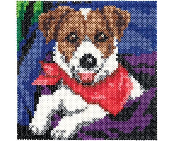 Tons and tons of Perler bead projects, including this cute pup. :)