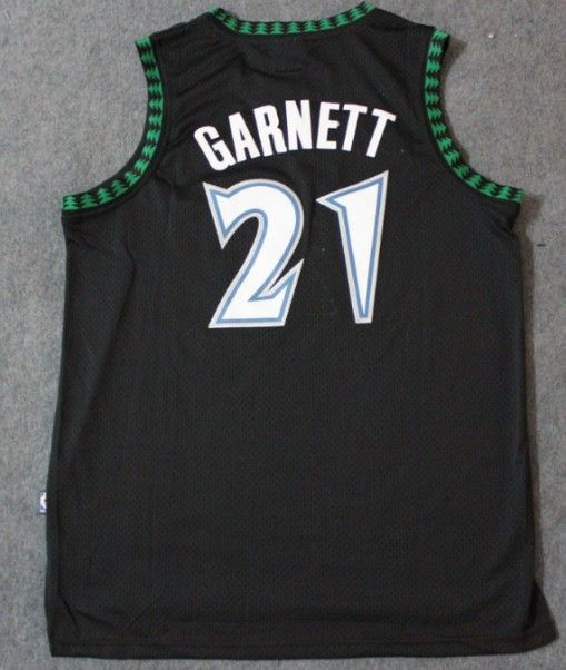 305ef85782f Adidas NBA Minnesota Timberwolves 21 Kevin Garnett Swingman Throwback Black  Jersey