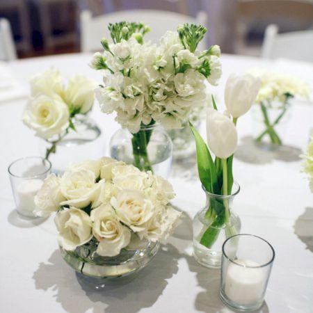 White party theme ideas 31 pinterest white flower simple small white flower arrangements centerpieces 6 mightylinksfo