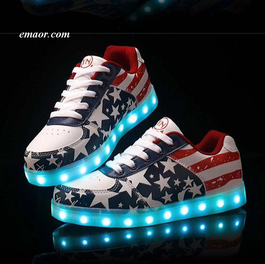Shoes Glowing USB Charger LED Shoes